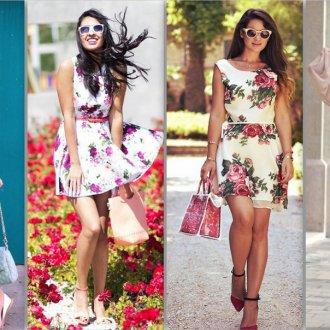 a3e1c2c5505d3d8 Модные платья с цветочным рисунком: женственные фасоны и аксессуары