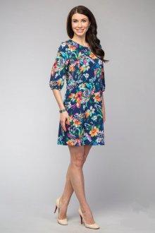 Короткое цветочное платье для полных девушек