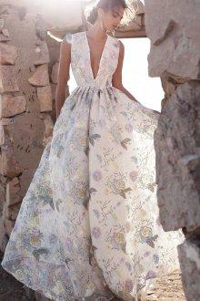 Летнее свадебное цветочное платье