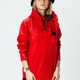 Красный женский анорак