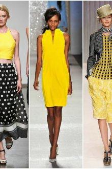 С чем сочетать желтый цвет в одежде