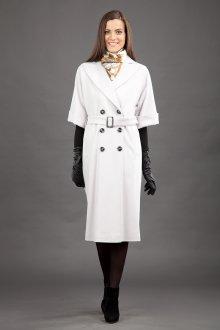 Белое пальто с короткими рукавами