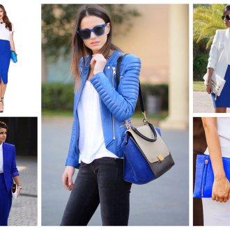 Сочетание синего и белого в одежде