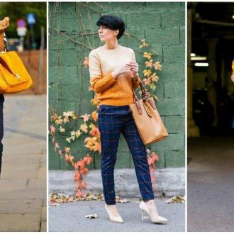 Синий и оранжевый в одежде