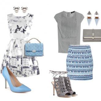 Серый и голубой цвета в одежде