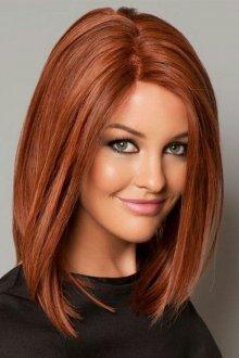Длинное каре на тонкие волосы