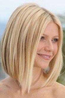 Каре с удлинением на тонкие светлые волосы