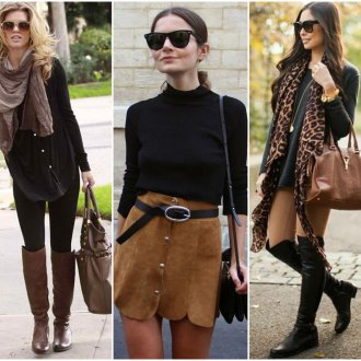 Черный и коричневый цвета в одежде