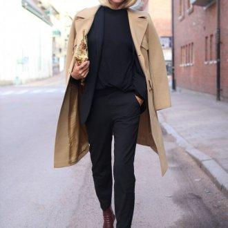 Черный и бежевый цвета в женской одежде