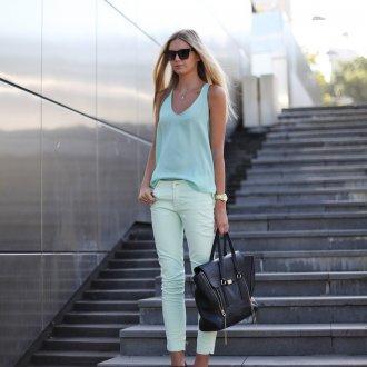 Мятный цвет в женской одежде