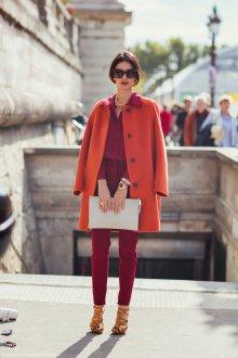 Оранжевый и красный цвета в одежде