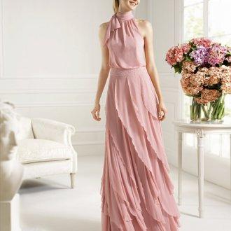 Вечернее платье цвета чайной розы