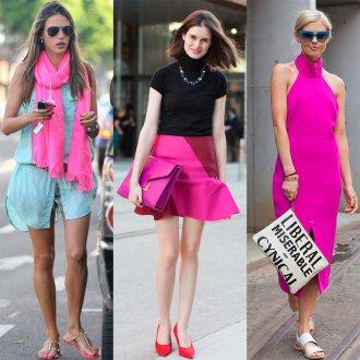 Ярко-розовый цвет в одежде