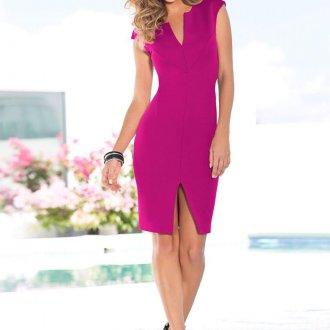 Платье цвета маджента