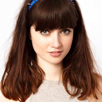 Синий винтажный ободок с шипами для волос
