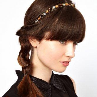 Элегантный ободок для волос с бусинами