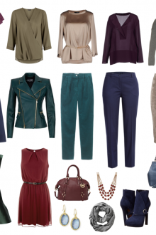 Вариант гардероба для цветотипа осень