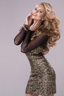 Черно-золотое платье на Новый год