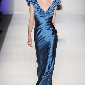 Синее блестящее платье для встречи 2020 года Огненного Петуха