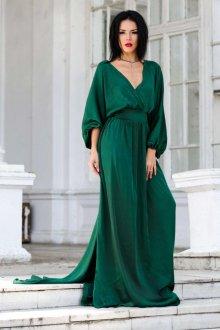 Свободное изумрудное платье