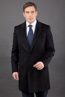 Черное мужское классическое пальто