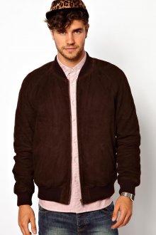 Коричневая мужская замшевая куртка