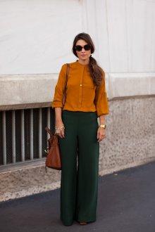 Горчичный и зеленый цвета в одежде