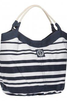 Черно-белая полосатая стильная сумка