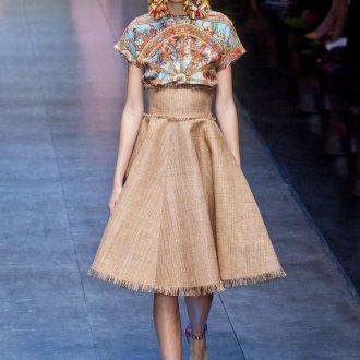 Светло-коричневая юбка
