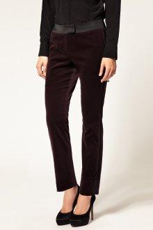 Вишневые бархатные брюки