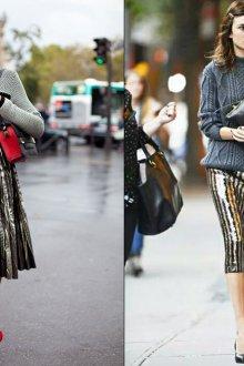 Длинные юбки с пайетками с кофтами