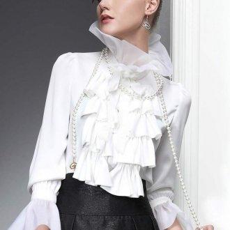 Белая винтажная блузка