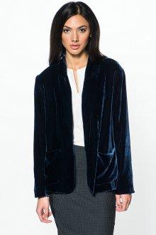Синий женский бархатный пиджак