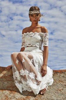 Оригинальное свадебное платье в стиле бохо шик