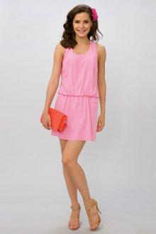 Бежевые туфли с розовым платьем