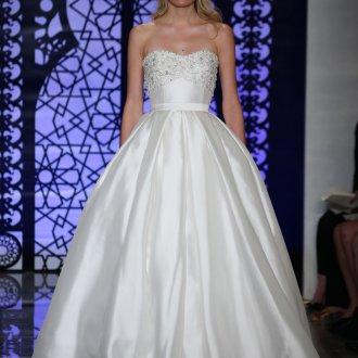 Пышное свадебное платье с камнями