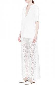 Белые кружевные брюки со звездочками
