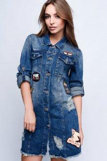 Модный джинсовый кардиган
