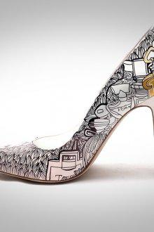 Украшение туфель рисунком