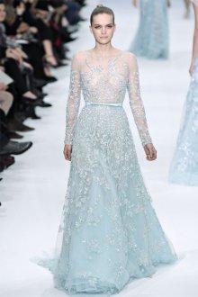 Голубое свадебное платье с пайетками