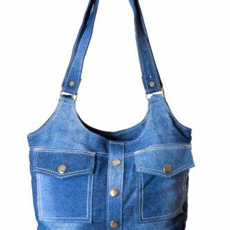 Светлая джинсовая сумка