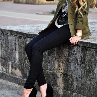 Черные туфли-ботильоны с круглым носом