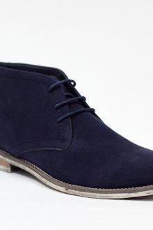 Синие замшевые мужские сапоги