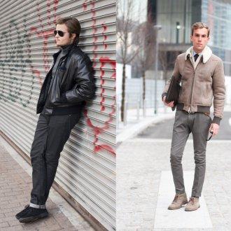 Замшевые мужские полусапоги с брюками