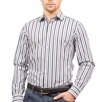 ab05f5dad49 Рубашка в Полоску Мужская с Длинным Рукавом Белая