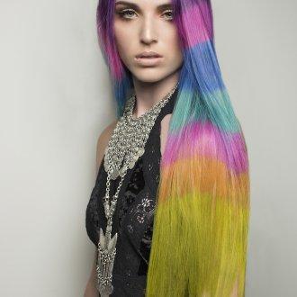 Модные разноцветные волосы