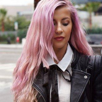 Модные розовые волосы