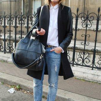 Алые замшевые туфли с джинсами