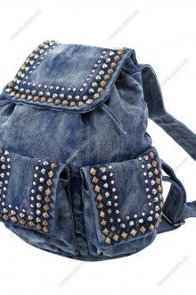Стильный джинсовый рюкзак с заклепками