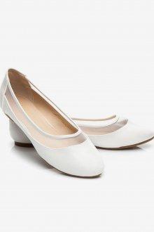 Элегантные белые балетки
